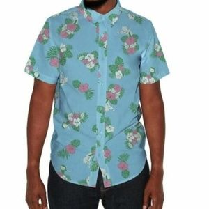 Rick & Morty Slim Fit Hawaiian Shirt
